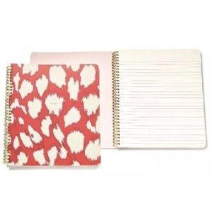 KATE SPADE Painterly Cheetah Notebook Coral Gold